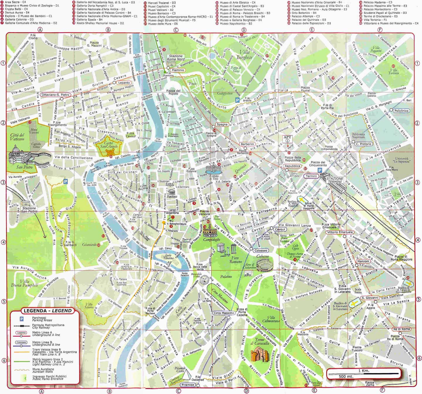 map rome